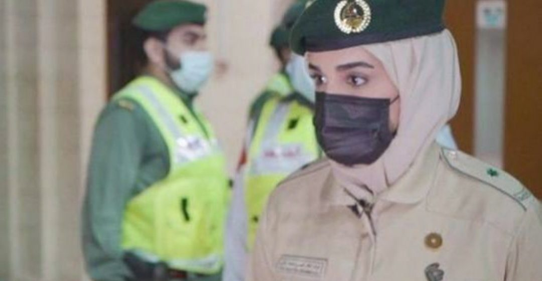 Lieutenant Nouf Khaled Ahli becomes first female general duty police officer of a Dubai Police station